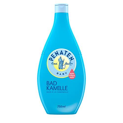 Penaten Bad mit Kamille – Mild reinigender Badezusatz für zarte Babyhaut – Mit Kamille-Extrakt – 1 x 750ml