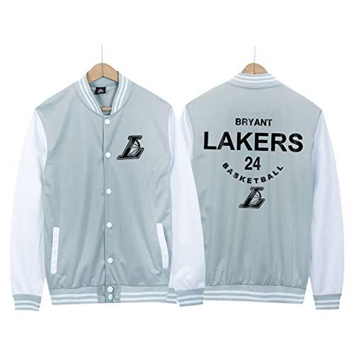 CNMDG Kobe Bryant Basketball-Jacke, Baseball-Uniform für Herren, schwarz, Mamba Laker, 24#, langärmelig, klassisch, Retro, Gedenk-Sportkleidung, Sweatshirt (M-4XL) Gr. 58, weiß