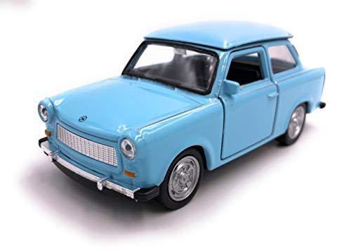 H-Customs Trabant Trabi Modellauto Auto Lizenzprodukt 1:34-1:39 Blau