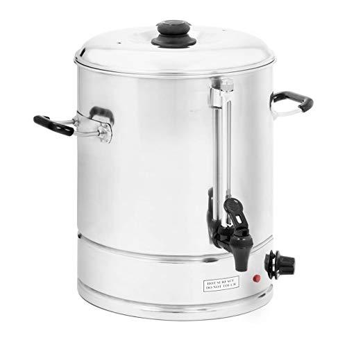 Royal Catering - Wasserkocher Heißwasserspender (30 Liter, ca. 150 Tassen, 42 x 46 x 43 cm, 3.000 W, 100 °C, Edelstahl) Silber