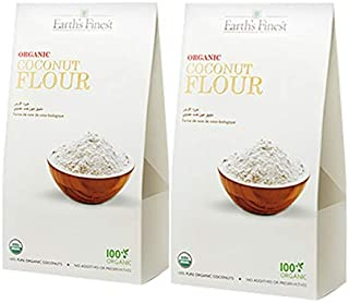 Earth`s Finest Organic Coconut Flour 500 gms Pack of 2