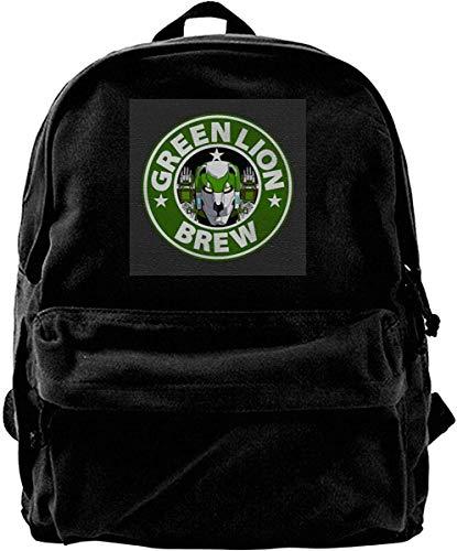 Homebe Mochila antirrobo Impermeable,Canvas Backpack Voltron Green Lion Brew Coffee Rucksack Gym Hiking Laptop Shoulder Bag Daypack for Men Women
