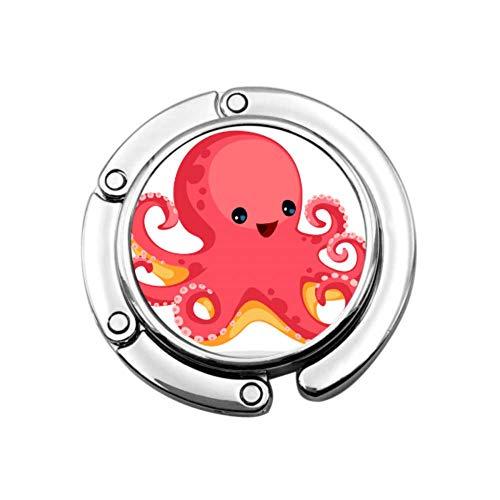 Cartoon Meer Ozean Octopus Charakter Geldbörse Kleiderbügel Für Schreibtisch Kleiderbügel Taschen Für Frauen Einzigartige Designs Folding Abschnitt Lagerung Geldbörse Tisch Haken Kleiderbügel Faltbar