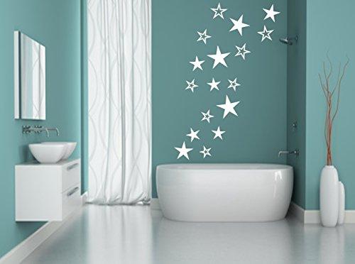 Sterne Aufkleber Wandschnörkel® Wandtattoo selbstklebend viele Farben