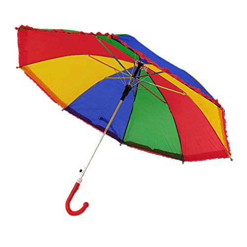 SAAMA Boys and Girls Kids Umbrella/Umbrella for Kids Girls/Multicolor Children Umbrella (Pack of 1)