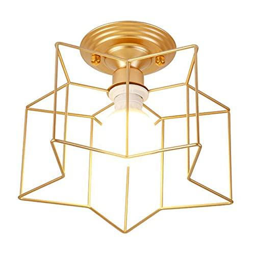 ZLMFK Lámpara de Techo de Montaje Empotrado Industrial Moderna Lámpara de Techo de Metal de latón Accesorio de iluminación para Pasillo Escalera Porche Dormitorio Cocina Araña