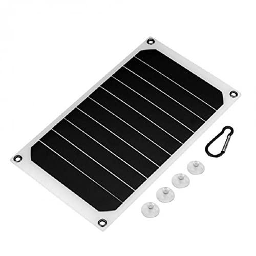 MOHAN88 Cargador de Panel Solar, Panel Solar Sunpower de 10 W, Placa de módulo fotovoltaico, Cargador de teléfono móvil, Placa de Carga USB Liviana para Exteriores (Negro)