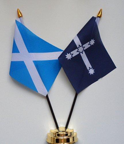1000 Flags Écosse & Eureka Stockade l'amitié Drapeau de table écran 25 cm (25,4 cm) S