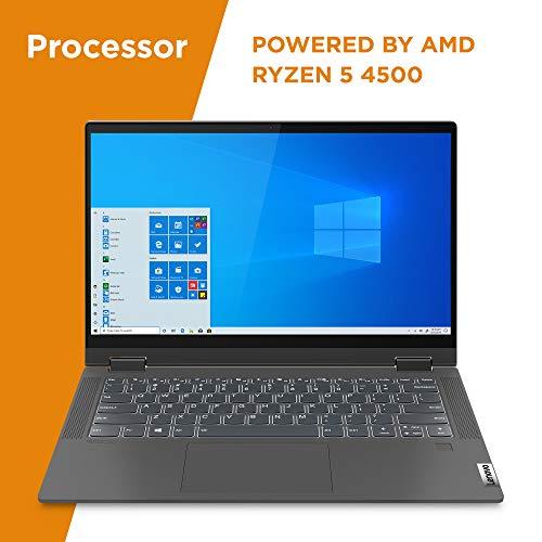 Product Image 8: , Lenovo Flex 5 14″ 2-in-1 Laptop, 14.0″ FHD (1920 x 1080) Touch Display, AMD Ryzen 5 4500U Processor, 16GB DDR4, 256GB SSD, AMD Radeon Graphics, Digital Pen Included, Win 10, 81X20005US, Graphite Grey