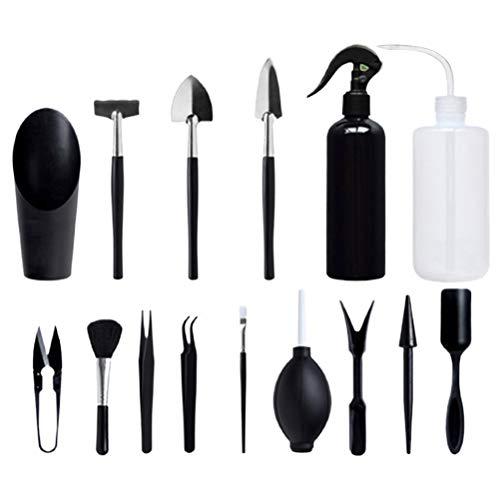 Penglai Sukkulenten-Umpflanzwerkzeug-Set, 15-teilig, robuste Gartenwerkzeuge, Mini-Gartenwerkzeuge, Geschenk, Kaktus, Zimmerpflanze, Bonsai, Gartenpflege-Werkzeug-Set