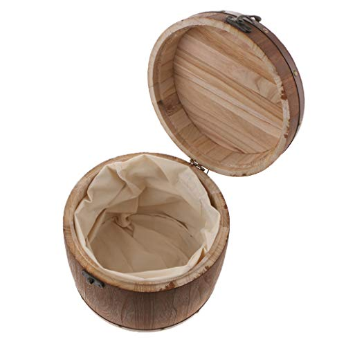 Fenteer Holz Luftdichtes Vorratsgefäß Vorratsdosen Vorratsbehälter Kaffeedose Teedose - L