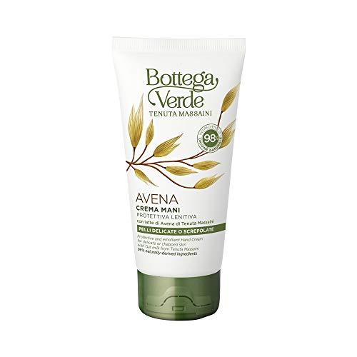 Bottega Verde, Crema Mani Avena, Protettiva e Lenitiva, con Latte di Avena di Tenuta Massaini, Pelli Delicate o Screpolate (75 ml)