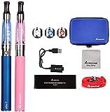 Salcar Ego-T CE4 E-cigarette Kit de Deux Cigarettes Electroniques (bleu+ rose), Sans Nicotine