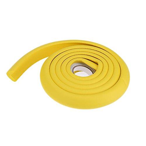 LB trading 5meters Baby Protector cover bumper strisce cuscino sicurezza ammorbidente schiuma bambini paraspigoli tabella angolo, Yellow, medium