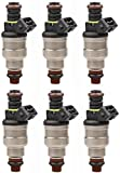 MOSTPLUS 6PCS Flow Matched Fuel injectors 0280150710 F03E-A2B Compatible for Ford Mustang Ranger Taurus