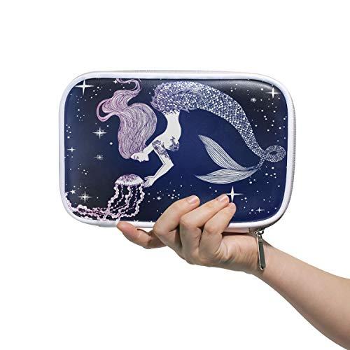 BEETTY Pencil Case Galaxy Mermaid Jellyfish Pencil Bag Box Makeup Brush Bag Pen Pouch for Girls Boys Kids Women School