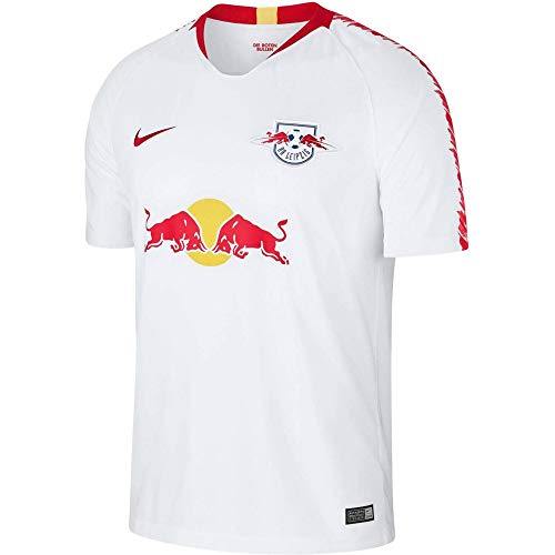 Nike Herren RB Leipzig Breathe Stadium Home T-Shirt, White/University Red, L