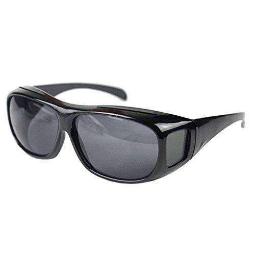 Boolavard Herren und Damen Sonnenbrille Polarisiert Unisex Brille Überbrille für Brillenträger Fit-Over Polbrille, One Size, Graue Linse