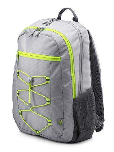 HP Active Rucksack 1LU23AA (für Laptops, Tablets, 15,6 Zoll) grau / neon gelb