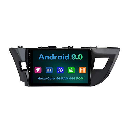 "Dasaita 10.2"" Car Stereo for Toyota Corolla 2014 2015 2016 Android 10.0 bluetooth 5.0 Radio GPS Navigation Head Unit Multimedia Music Video Player Touchscreen Hexa Core 4G 64G PX6 DSP WIFI"