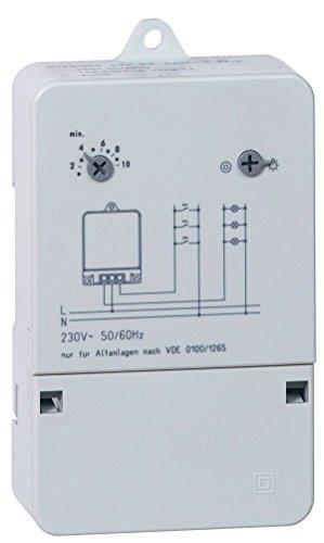 Legrand, Treppenlicht-Zeitschalter Rex600Plus, 230 V, 50/60 Hz, extrem leise, Aufputzmontage, 049783