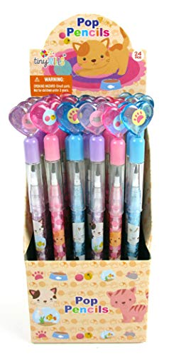 24 Pcs Cats Kittens Multi Point Pencils