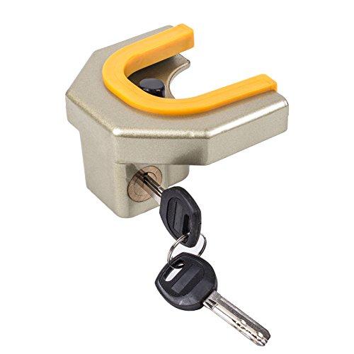 Anhänger Diebstahlsicherung für Blech Zugkugelkupplungen 4,8 - 6,1 cm inkl 2 Schlüssel für Wohnwagen, Anhänger und Pferdeanhänger