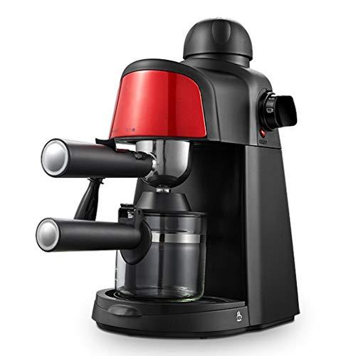 WEIE Cafetera De Goteo, Máquina De Café con Filtro De 800 W, Cafetera Exprés De 5 Barras, 2 A 4 Tazas, Máquina De Capuchino con Vaporizador De Leche Y Jarra (Color : Red)