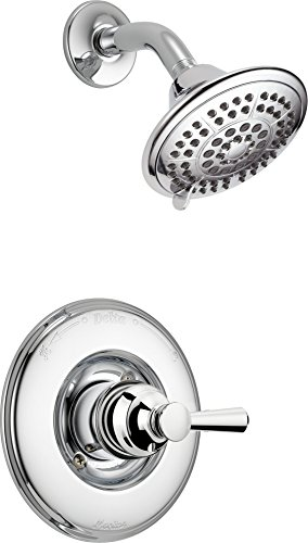 Faucet Linden 14 Series Single-Function Shower Faucet, Shower Trim Kit, 5-Spray Shower Head, Chrome  (Valve Not Included) - Delta T14293