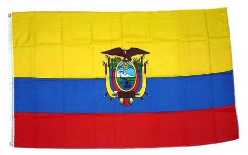 FahnenMax drapeau de l'équateur 150 x 250 cm