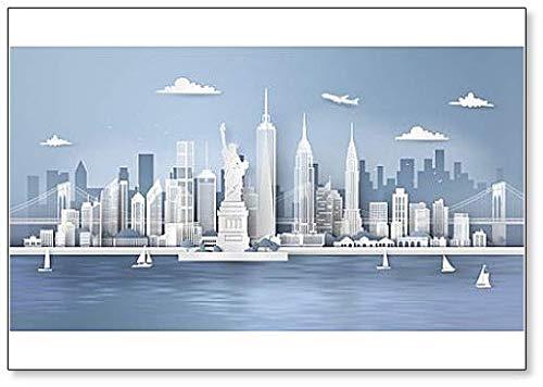 Imán clásico para nevera con rascacielos urbanos de Nueva York