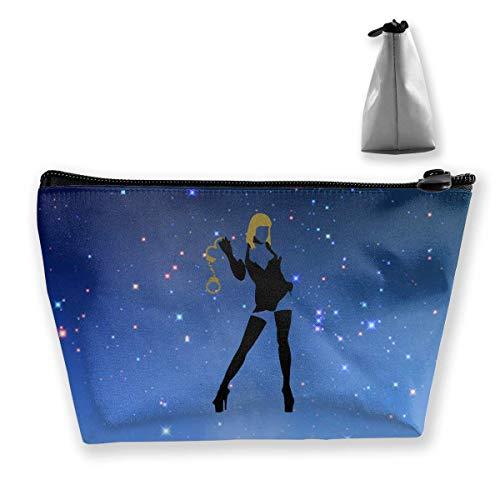 Domina avec menottes, sac de rangement portable pour maquillage, grande capacité, sac de lavage à main