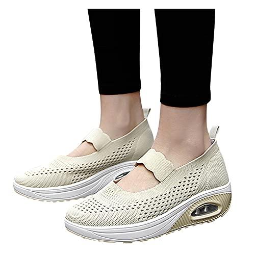 koperras Sandalen Damen Keilabsatz Plateau Frauen Mädchen Sandaletten Leichtgewichts Atmungsaktiv Sport-Sandalen Verschleißfest Rutschfest Laufschuhe Sneaker Trekkingschuhe Workout Jogging