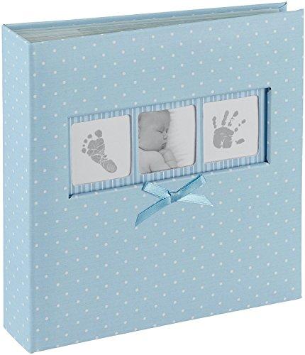 Innova Q4103613M baby-fotoalbum voor 200 foto's, blauw met stippen