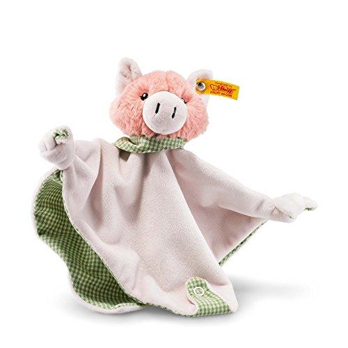 Steiff 241017 Schwein Piggilee Schmusetuch, rosa
