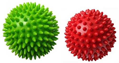Best Price! Therapist's Choice® Pack of 2 Spiky Massage Balls, Hard & Soft Combo, Stress Reflexol...