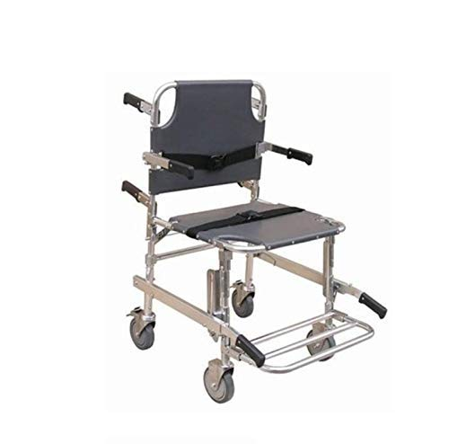 GLJY Stair Chair Medical Emergency Patient Transfer, 4-Rad Deluxe Evakuierungsstuhl, Ambulance Transport Folding Stair Chair Lift, Tragfähigkeit 400 Lb