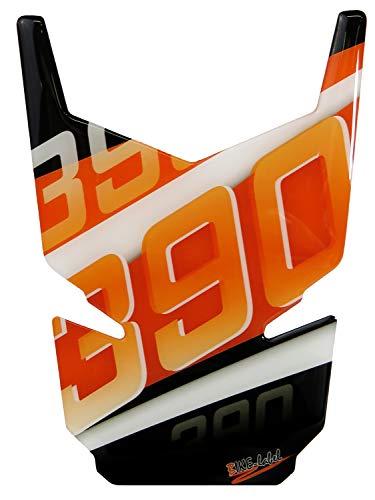 Bike Label 502542 Tankpad 3D Orange Stripes Tank-Schutz passend für KTM-390 Duke