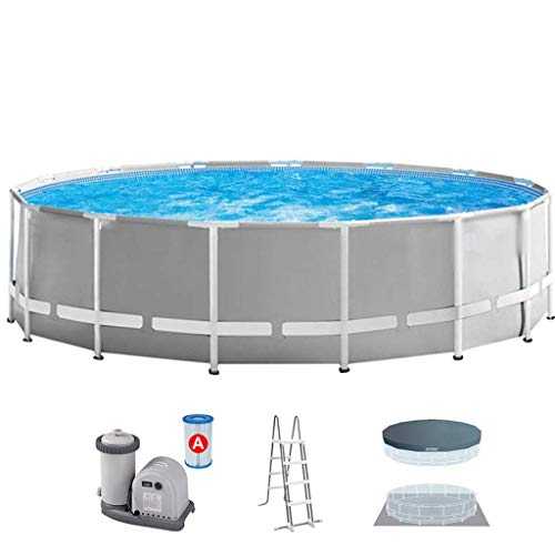 Swimming Pools Adult Pipe Rack Paddling Pool Large Family Children Bracket Swimming Pool Thickening Party Water Park (Color : Gray, Size : 15FT) ZHNGHENG (Color : Gray, Size : 15FT)