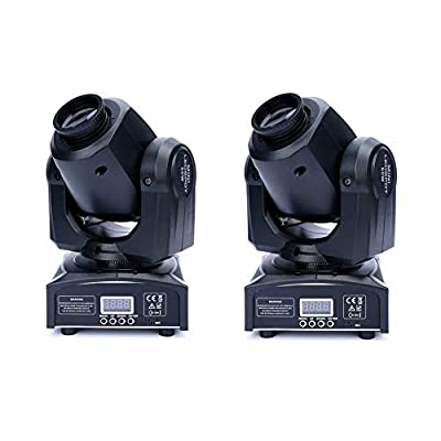 XPC 2PCS LED Moving Head Light Spot 4 Color Gobos Light 60W DMX with Show KT V Disco DJ Party for Stage Lighting(2Pack-60W)