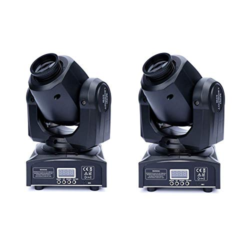 XPCLEOYZ 2Pcs 60W LED Moving Head Light 8 Gobo 8 Pattern Spotlight by DMX Controlled 9/11 Channel for Disco Club Party Stage Lighting Shows (2PCS)