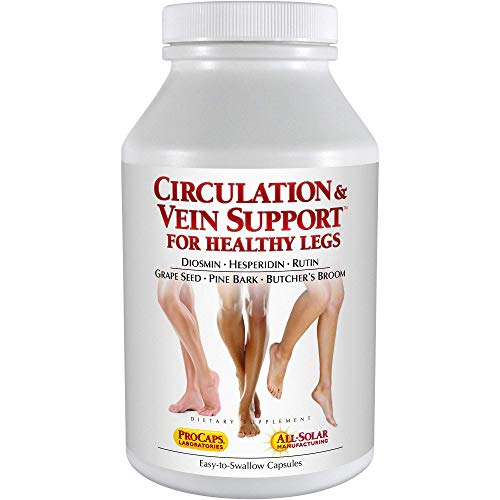 Andrew Lessman Circulation Vein Support for Healthy Legs 30 Capsules – High Bioactivity Diosmin Natural Oxidants Butcher's Broom Visibly Reduces Swelling & Discomfort in Feet, Ankles, Calves & Legs