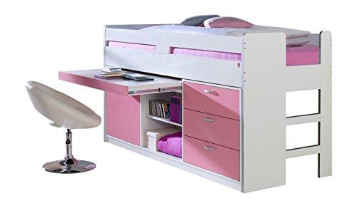 Relita Bett, weiß/rosa