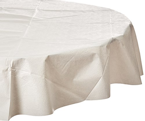 """Elrene Home Fashions Cushioned Flannel Backing Table pad, 70"""", White"""