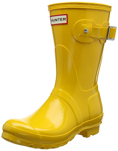 Hunter Low Wellington Boots, Botas de Agua para Mujer, Amarillo (Yellow Ryl), 42 EU