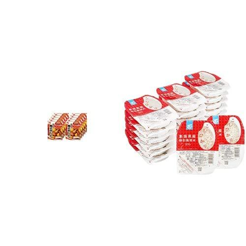 味の素 Cook Do (合わせ調味料) きょうの大皿 57 鶏手羽じゃが用 100g×10個 + Happy Belly パックご飯 新潟県産こしひかり 200g×20個(白米) 特別栽培米