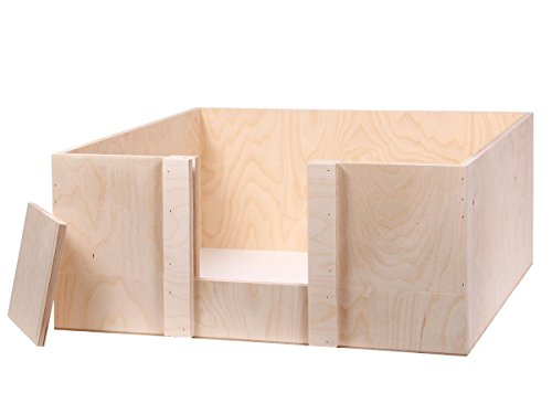 Alsino Wurfbox Welpenbox Wurfkiste Welpenkiste für Hunde & Katzen, aus Holz -...
