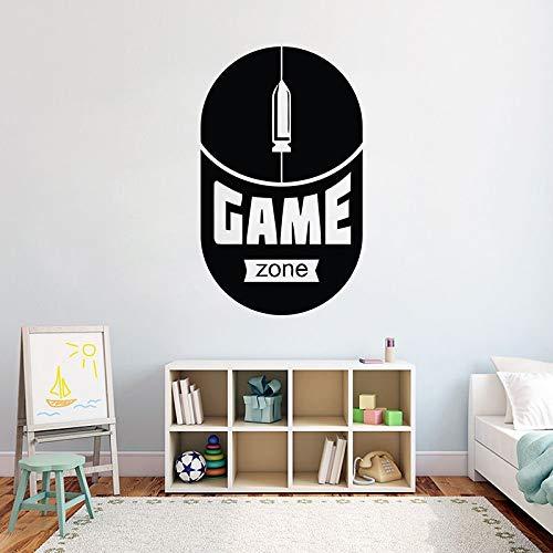 Reproductor de juegos pegatinas de pared juego de pegatinas de pared controlador de videojuegos pegatinas de pared niños vinilo personalizado pintura de pared A3 57X95cm