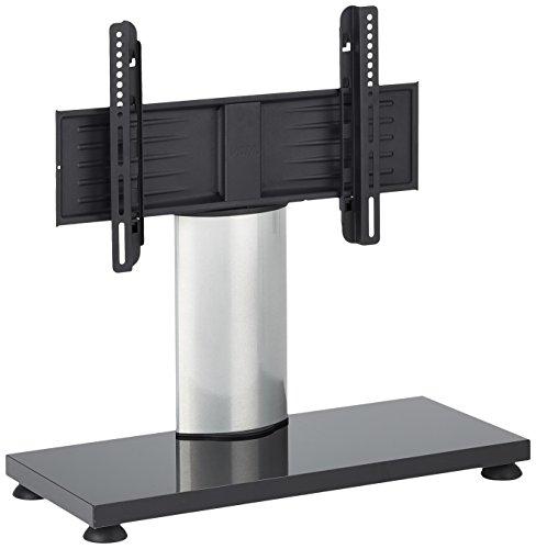 VCM TV Stand TV Stand TV tafel glazen staander houder staan meubel rek VESA Universal zilver/witte lak 55 x 68 x 30 cm