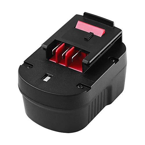 Boetpcr 12V 3.0Ah NiMH Reemplace Batería para Black & Decker A12 HPB12 A12E A12-XJ A12EX FSB12 FS120B FS120BX A1712 B-8315 BD-1204L BD1204L BPT1047